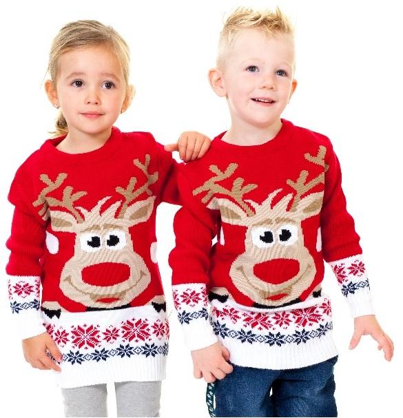 Foute Kersttrui Jongens.Rudolph Rood Kids Foute Kersttrui Kopen Grootste Aanbod