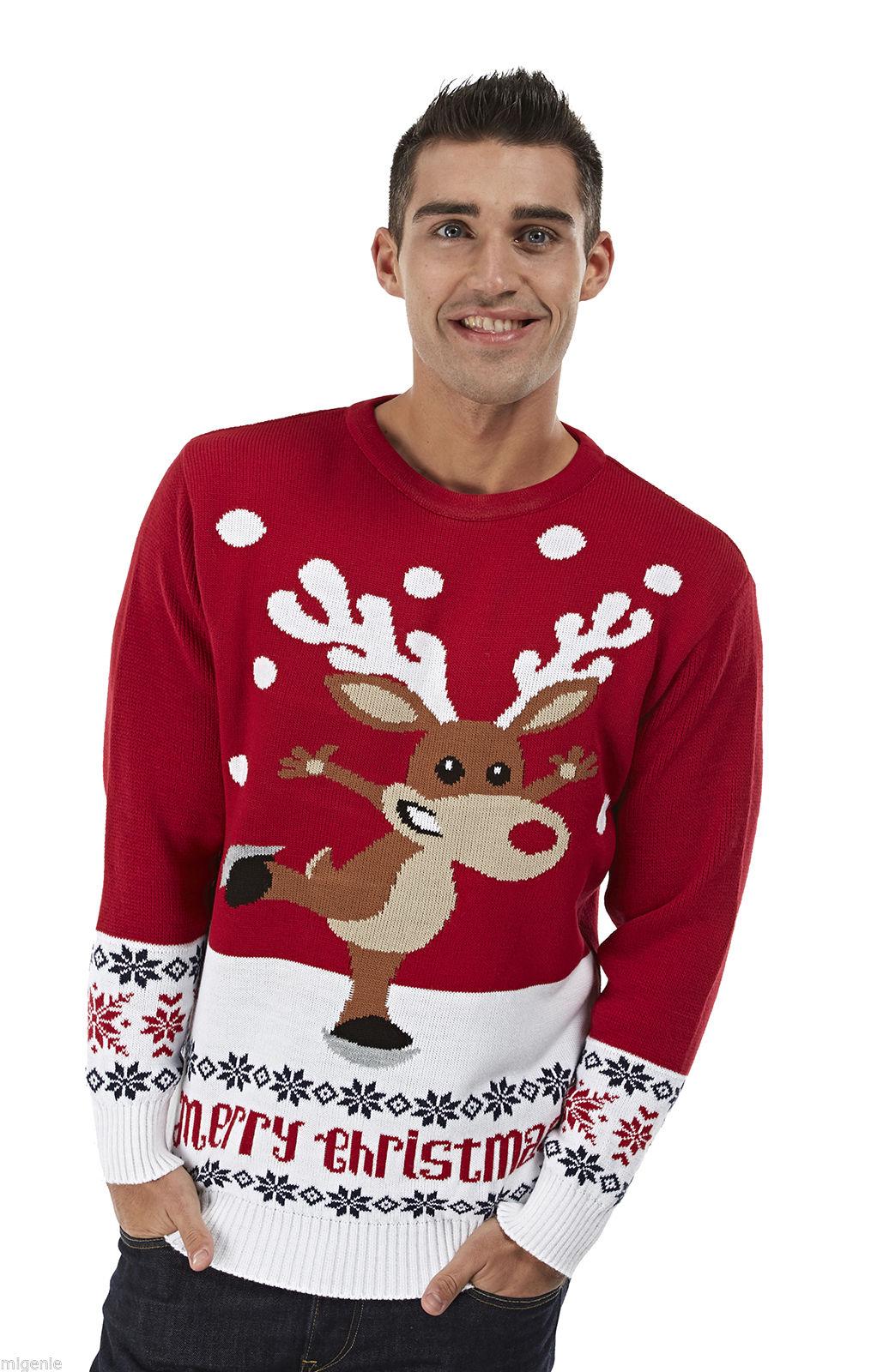 Lelijke Kersttrui Kopen.Kersttrui Rudolph Op Schaatsen Rood Kersttrui Com Kersttruien