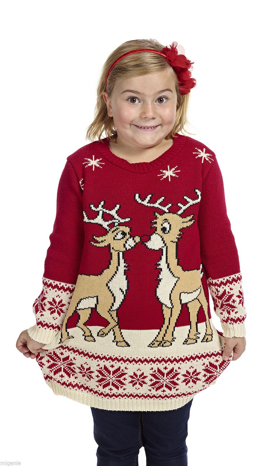 Kersttrui Voor Kinderen.Kersttrui Tuniek Rendieren Kinderen Foute Kersttrui Kopen