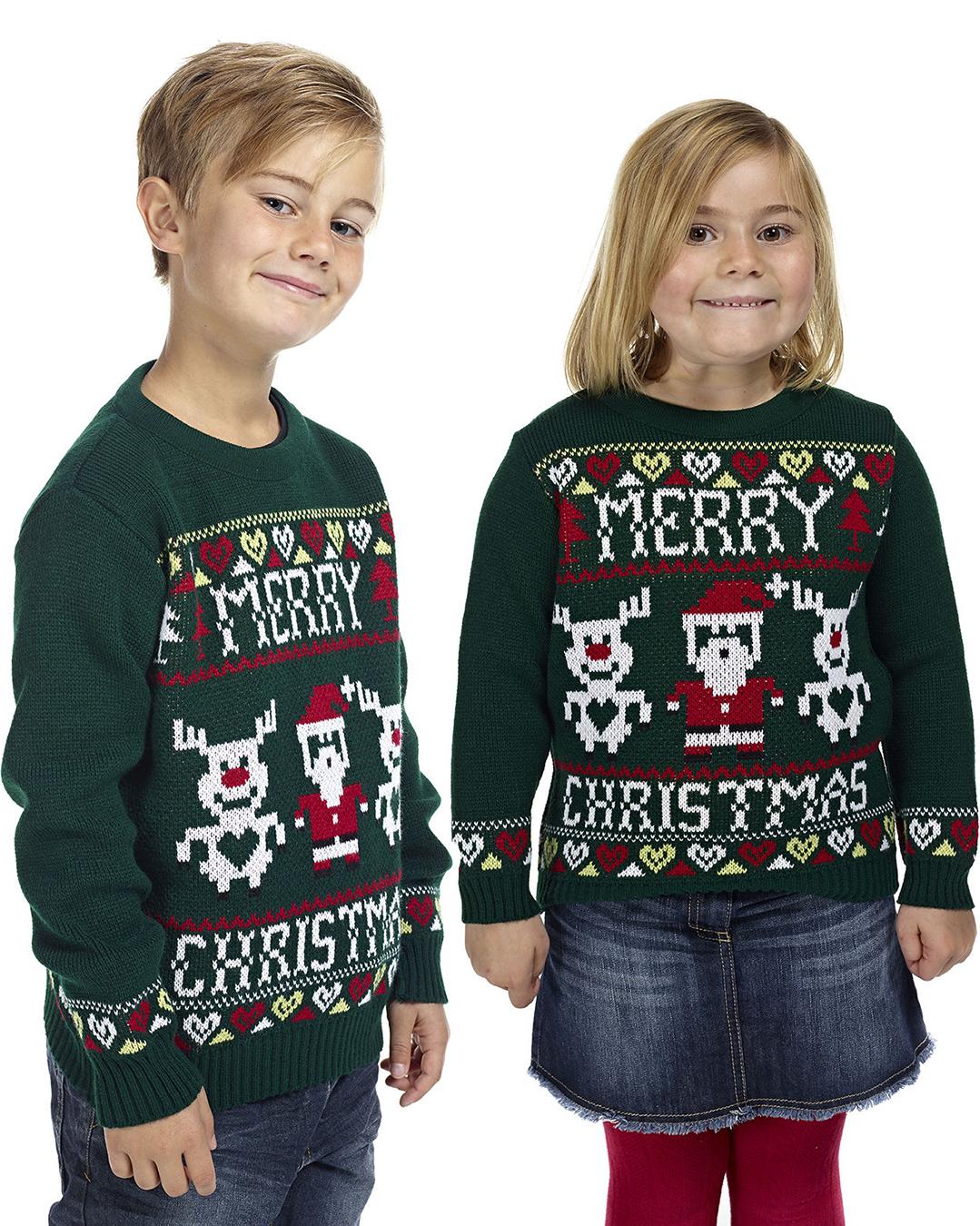 Kersttrui Voor Kinderen.Kersttrui Kinder Xmas Groen Foute Kersttrui Kopen Grootste Aanbod