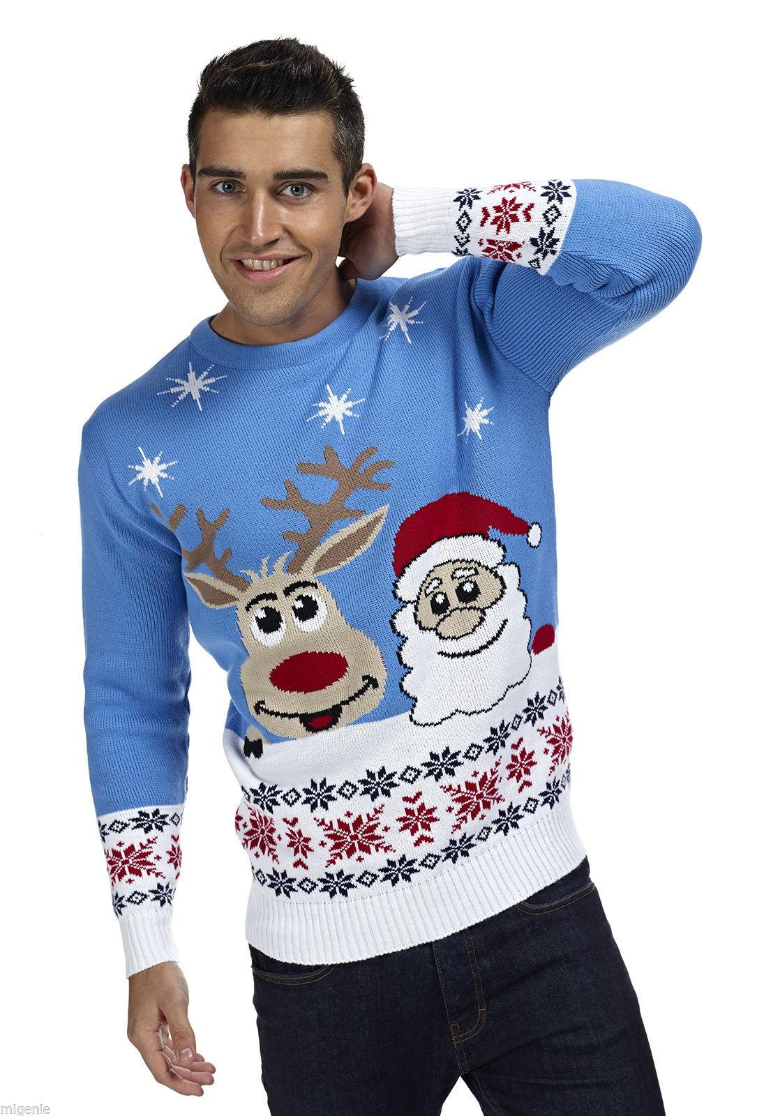 Lelijke Kersttrui Kopen.Foute Kersttrui Rendier En Kerstman Kersttrui Com Kersttrui Kopen